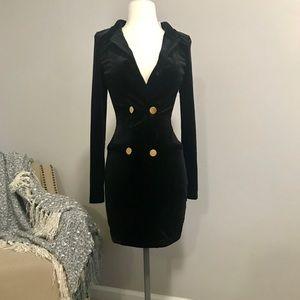 NEW H&M sexy black velvet dress